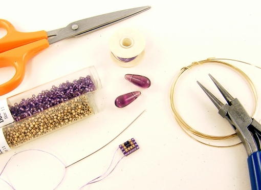 purple-teardrop-beads