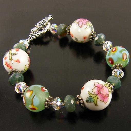 porcelainflowerbeadbracelet