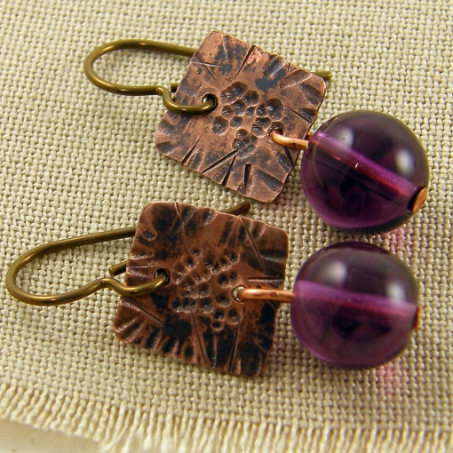 purple-and-copper-earrings