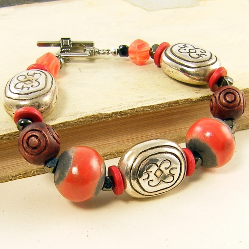 Red_Silver_Wood_Bracelet